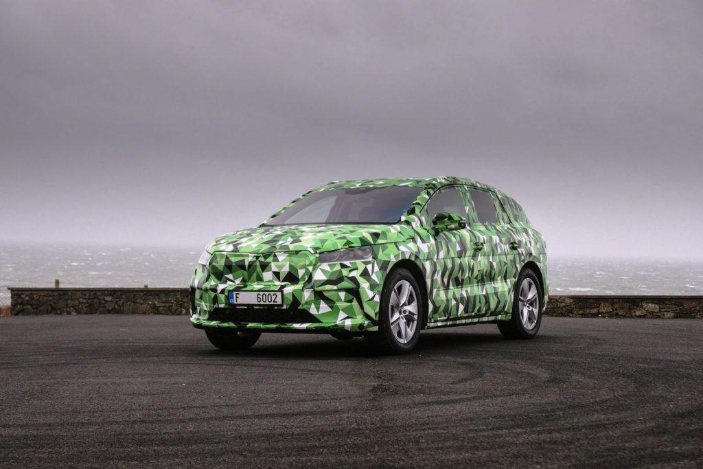 Skoda Enyaq electric SUV revealed in camouflage