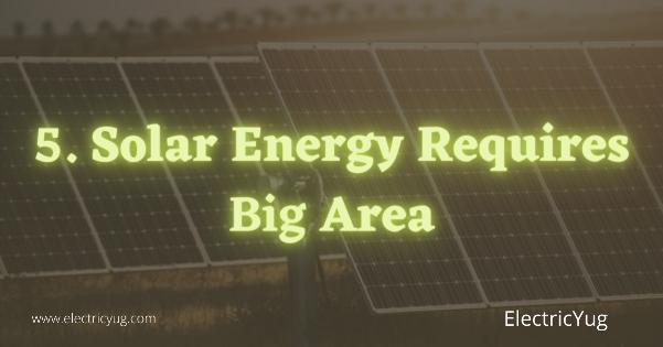 Solar energy require more area